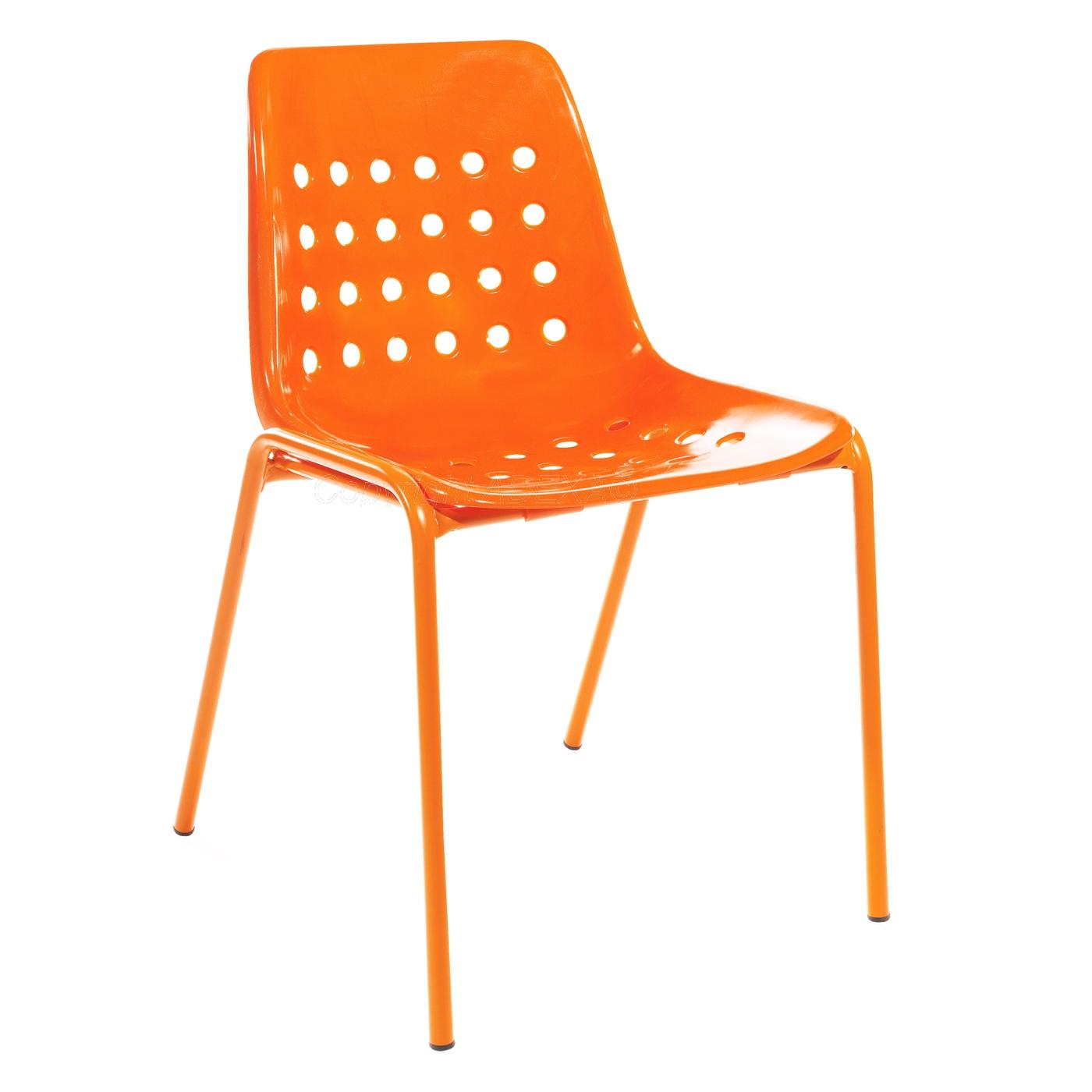 Schaffner stuhl bermuda ohne armlehne orange